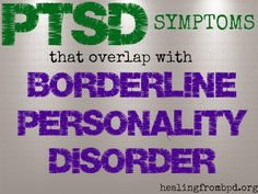 PTSD Symptoms that Overlap with BPD (Week 8: Wrapping Up Trauma Recovery Group)