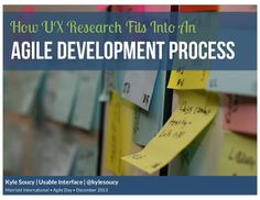 How UX Research Fits Into an Agile Development Process