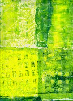 Printed from a gelli plate