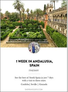 How to see the best of Cordoba, Granada and Sevilla in 1 week. Read on for my Southern Spain itinerary! #spainphotos