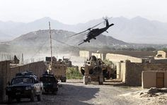 A U.S. Army helicopter takes off carrying soldiers injured by a roadside bomb in Kandahar, Afghanistan, on Monday.