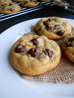 Culinary Couture: Perfect Coconut Oil Chocolate Chip Cookies...ok friends, I have the pickiest husband when it comes to healthy substitutions....he loves these.  Says he can't tell the difference from butter. Hit out of the park!