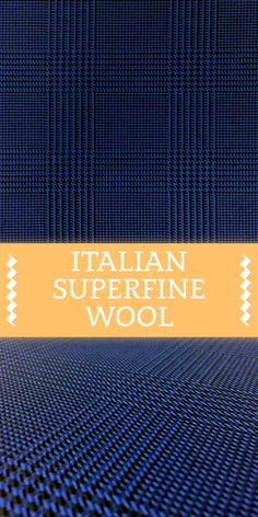 Italian Superfine Silk Wool Blend Glenn Check in Indigo Blue