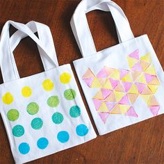 Mr. Handsomeface Blog » Mini Gift Bags (i like the triangle pattern)