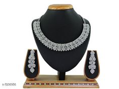 Checkout this latest Jewellery Set Product Name: *Trendy Latest Women's Jewellery Sets* Plating: Oxidised Silver Country of Origin: India Easy Returns Available In Case Of Any Issue   Catalog Rating: ★4.3 (300)  Catalog Name: Feminine Chic Jewellery Sets CatalogID_1156126 C77-SC1093 Code: 913-7236956-177