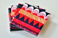 Marimekko Ceramic Coasters via Brit + Co.