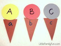 Little Family Fun: Alphabet Ice Cream Game