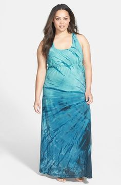 Plus Size Surplice Side Tie Racerback Maxi Dress from Nordstrom