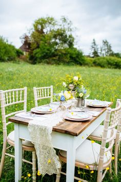 Late Spring/Early Summer Rustic Outdoor Wedding Inspiration in Shades of Yellow and Blue | Love My Dress® UK Wedding Blog