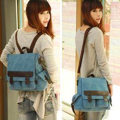 Simple Vintage Multifunction Canvas Backpack&Shoulder Bag&Handbag|Fashion Backpacks - Fashion Bags - ByGoods.com