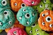 Delicious Gooey Monster Cookies!! Perfect for Halloween! { lilluna.com }