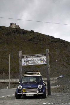 The greatest car on the greatest road .. Stelvio pass .