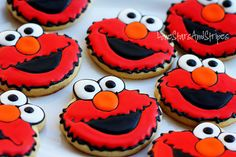 Elmo cookies They look Yummy!