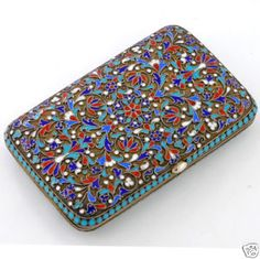 Russian Enamel  Case-  I'd carry this as my wallet!
