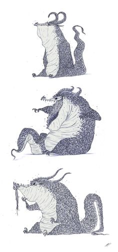DRAGONS SKETCHES by Olivier SILVEN, via Behance