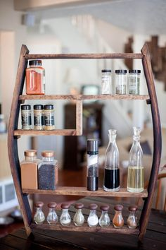 Willamette Spice Rack | made from barrel staves and pine | designed & constructed by: Three Arrow Design & Build, LLC