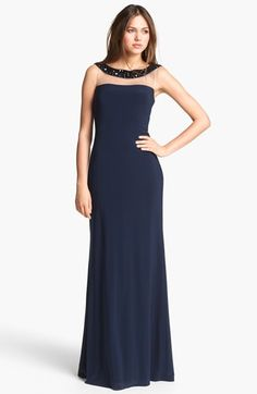 MOB? Kathy Hilton Embellished Column Gown available at #Nordstrom