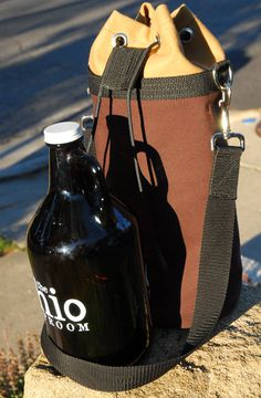Insulated Beer Growler Bag by StateofDevotion on Etsy
