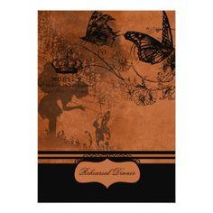 Butterfly Rehearsal Dinner Cards Fairy Garden Wedding Rehearsal Dinner Invitation