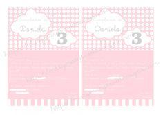 Lindas invitaciones para cumple en rosa bebe