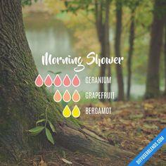 Morning Shower - Essential Oil Diffuser Blend #Essentialoildiffusers