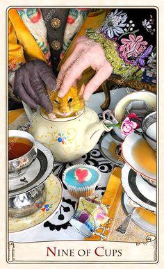 THE ALICE TAROT - NINE OF CUPS - BY BABA STUDIO (KAREN MAHONEY & ALEX UKOLOV)