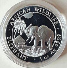 Somalia Elefant 2017 1 Unze 1 oz Silber in Münzkapselsparen25.com , sparen25.de , sparen25.info