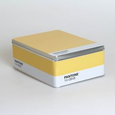 Yellow Pantone Storage Tin by Seletti- Seltzer Studios - online boutique for unique home decor, gifts and accessories Pantone Cmyk, Yellow Pantone, Pantone Color, Color Of The Year, Unique Home Decor, Storage Solutions, Signage, Different Colors, Home Goods