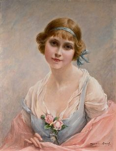 by Francois Martin-Kavel Francois Martin, Victorian Art, Illustrations, French Artists, Woman Painting, Vintage Pictures, Beautiful Paintings, Romantic Paintings, Belle Photo