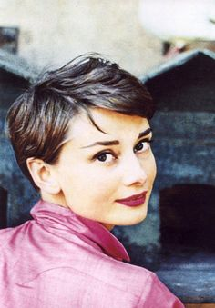 Audrey Hepburn. (now that my hair is short I gotta look to these pros for style inspiration).
