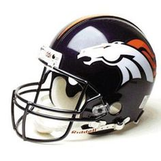 Denver Broncos Full Size Authentic ProLine NFL Helmet by Riddell by Riddell. $189.95. Item 1AFS-Den by Riddell in category NFL > Denver Broncos. The ultimate football helmet collectible. This officially licensed NFL Pro Line helmet is just like what the pros wear.