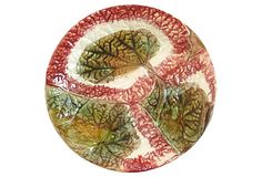 Antique Majolica Begonia   Plate on OneKingsLane.com