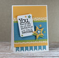 Card by Amy Kolling using Words of Wisdom from Verve Stamps. #vervestamps