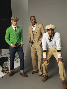 Men with style. Mainly Andre 3000 my hero. Gentleman Mode, Dapper Gentleman, Gentleman Style, Sharp Dressed Man, Well Dressed Men, Mode Masculine, Golf Fashion, Mens Fashion, Stylish Men