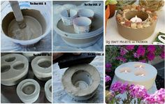 Candle Holders made out of gypsum or cement or concrete . DIY Craft Projects