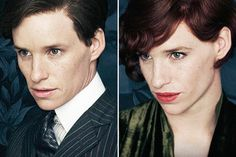Eddie redmayne in the guise of a transsexual in the first posters The Danish Girl