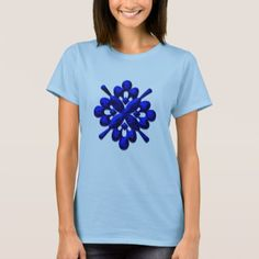 #black - #A202 Rich Blue and Black Abstract Design T-Shirt