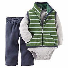 Carters Newborn 3 6 9 12 18 24 Months Vest Bodysuit Pants Set Baby Boy Clothes