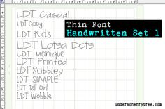 Under A Cherry Tree: New! Lettering Delights' Thin Fonts (Single-line font) and how to use them