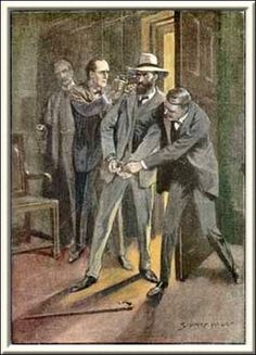 Sherlock Holmes The Dancing Men Holmes clapped a pistol to his head and Martin slipped the handcuffs over his wrists