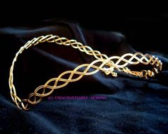 Gold Celtic Elven Circlet Will Fit Man or Woman SCA   eBay