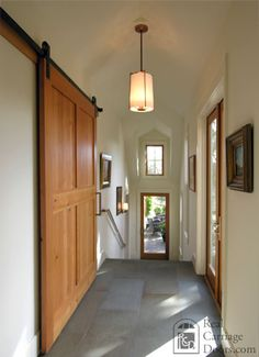 Wonderful hallway. Possibly a model for the new back entrance, stepping up from back yard level into the current kitchen space.