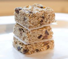 No Bake Energy Bars (No sugar!) These are the tastiest granola/cookie bars, loaded with flax seed, coconut oil, peanut butter and honey.