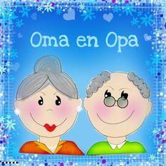 Felicitatiekaart Opa en Oma, gemaakt door Diana Voestermans