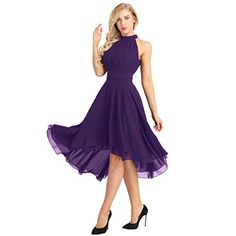 Cheap Dresses, Buy Directly from China Suppliers:YiZYiF Bridal Women Dress Halter Neck Sleeveless High-low Chiffon Elegant Women Dresses Party Chiffon Halter Dress Women Outlets Ball Gowns Prom, Homecoming Dresses, Prom Ballgown, High Low Bridesmaid Dresses, Elegant Dresses For Women, Cocktail Gowns, Chiffon, Halter Neck, Halter Gown