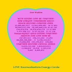 LOVE Reconciliation Energy Circle