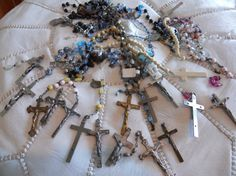 Vintage rosary pieces...so cool.