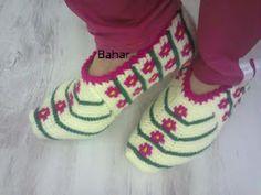 Arzunun Patikleri: Bahar'ın Tunus İşi Çiçekli Patiğinin Açıklaması Afghan Stitch, Tunisian Crochet, Baby Shoes, Slippers, Knitting, Stuff To Buy, Mavis, Clothes, Blog