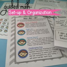 Guided Math Self-Reflections, help with planning guided math