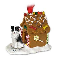 Border Collie Dogs Gingerbread House Christmas Ornament  #Border #Christmas #Collie #Dogs #Gingerbread #house #Ornament From BorderCollies.xyz. Click through for more!